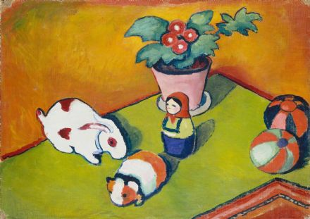 Macke, August: Little Walter's Toys. Fine Art Print/Poster. Sizes: A4/A3/A2/A1 (004334)
